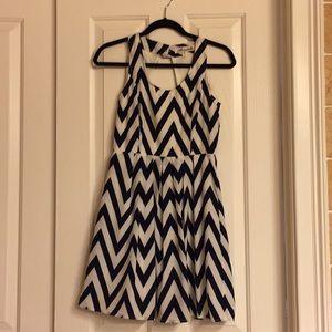 Chevron dress w/ square back